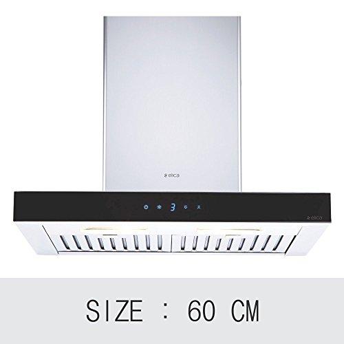 Elica 60 cm 1220 m3/hr Chimney (SPOT ETB PLUS LTW 60 TC3V LED, 2 Baffle Filters, Touch Control, Steel & Black)
