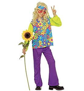 WIDMANN Widman - Disfraz de hippie años 60s para niño, talla 8-10 años (38177)