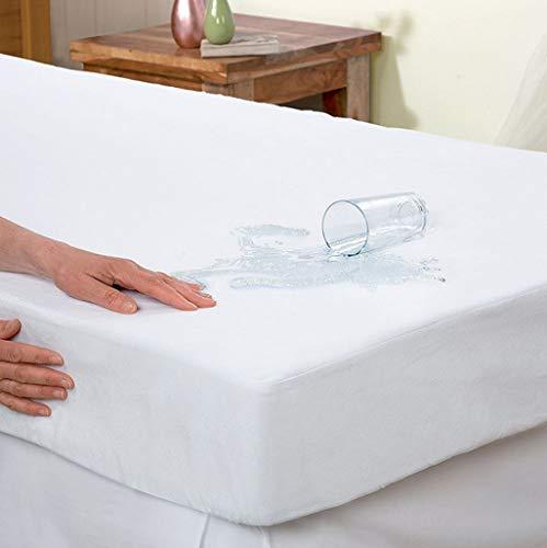 Matratzenschoner, elegant, bequem, hypoallergen, Frottee, 100% wasserdicht, Vinylfrei, für Doppelbett, Doppelbett, XL, Kingsize-Bett, Kalifornisches King-Size-Bett strapazierfähig Twin XL (Full-size-bett-möbel)