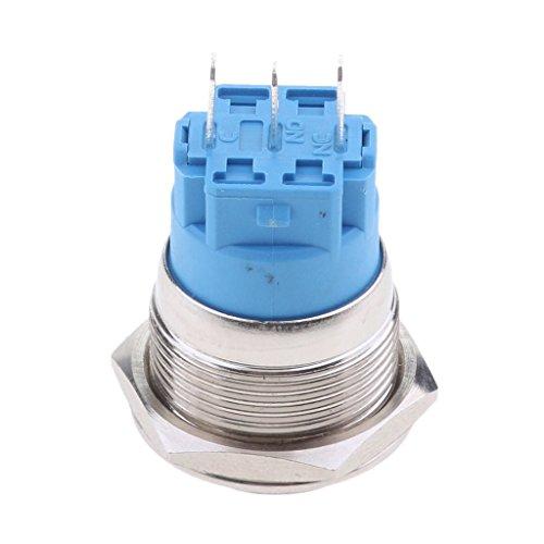 Baoblaze Bouton-Poussoir LED Auto-bloquant Contacteurs Commutateur Voiture