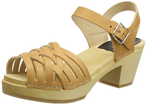 Swedish Hasbeens Braided High, Sandales Bout ouvert femme