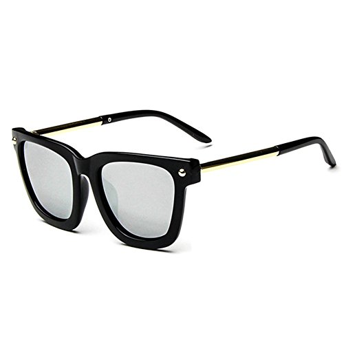 Z-P New Fashion For Unisex Round Reflective UV400 Metal Round Leg Sunglasses 62MM