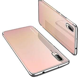 Huawei P20 Cover, Custodia Huawei P20 pro 360 Gradi Ultra Sottile Cassa Duro TPU Case Rigido Elegante Shock-Absorption e Custodia per Huawei P20 lite (argento, Huawei P20)