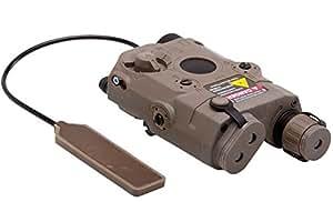 APE (Airsoft) - An PEQ 15 Lampe / Laser rouge - Tan