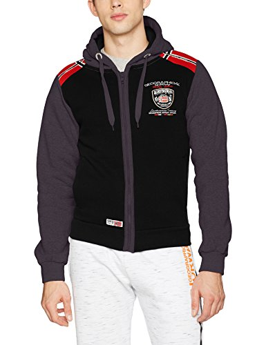 Geographical Norway Finion Men, Maglieria Sportiva Uomo Schwarz (Black/Dgrey)
