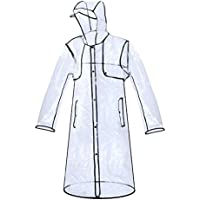 Zicac Imperméable Transparent PVC Manteau De Pluie Trench Femme Fille Fashion