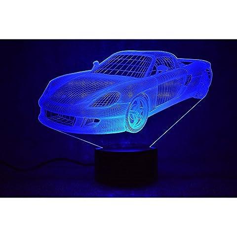 3D Lampes à Illusion 3D LED Night Light USB Table Lampe Deco 7 Couleurs Change USB Lampe Décoration Intérieure Noël Valentine Cadeau Meedot
