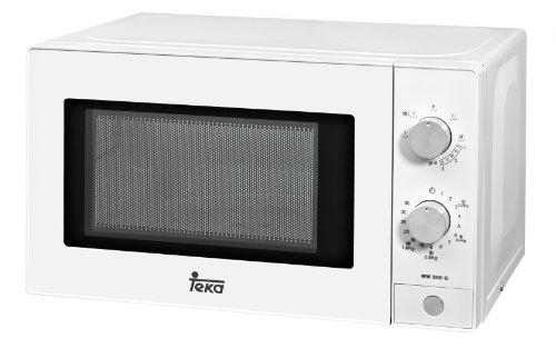 Teka - Mikrowelle Mw200G, 20 l, 1050 W / 700 W, Grill, mechanisch, Zeitabtauung, weiß