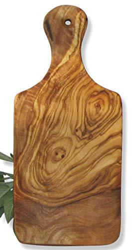Kleines HOLZ BRETTCHEN. Brett aus Olivenholz mit kaltgepresstem Leinöl eingelassen. Circa 22 x 10 cm. Original FIGURA SANTA Manufaktur.