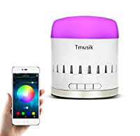 Bluetooth Speaker, Tmusik Super Portable Speaker with 7 Hours Playtime, 33 Feet Bluetooth Range, RGB Lamp, works with iPhone, iPad, Samsung, Nexus, HTC, Laptops and More