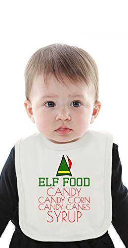Elf Food Candy Canes Corn Syrup Funny Slogan Organic Bib With Ties Medium