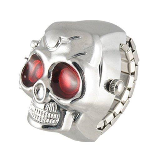 -Schaedel-Entwurf Band-Quarz-Ring-Uhr ()