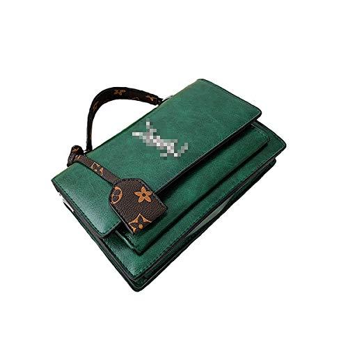 2019 Baby Kleine kette Gesteppte Umhängetasche Mini Cross Body Damen Handtasche Clutch Classic Abendtasche Wickeltaschen Henkeltaschen Rucksäcke Wickeltaschen mit Schnallen Grünes Leder, 22*6*15CM
