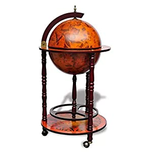 Nishore Globus-Bar Barschrank Globus-Bartisch,Abmessungen (ge?ffnet):47 x 47 x 102 cm,Globus-Hausbar Tischbar mit…