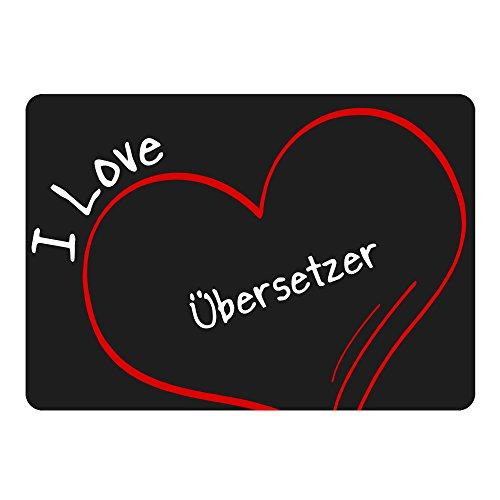 Mousepad Modern I Love Übersetzer schwarz