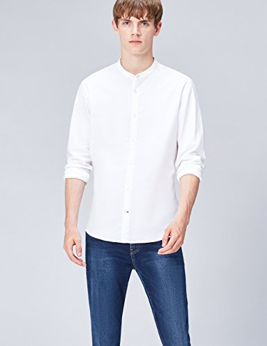 FIND Herren Jasper Oxford Hemd Slim Fit Weiß (White)