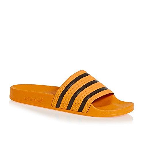 Adidas adilette, pantofole aperte sul retro uomo, arancione (real gold s18/core black/real gold s18), 40 2/3 eu