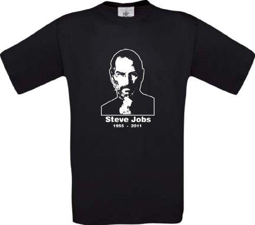 ShirtInStyle T-Shirt, Steve Jobs MEMORY RIP iGod, Farbe schwarz, Größe M