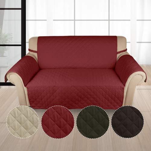 HDM Soft-Touch 2-Sitzer 167x112 cm Sofaüberwurf Sesselschoner Sofaschoner Sesselschutz Kindersofa Decke aus 100{e146875d77e808ea75b590ac84b925e31500c96ff84e6b64cfeb23189710ab21} PP Baumwolle in Weinrot