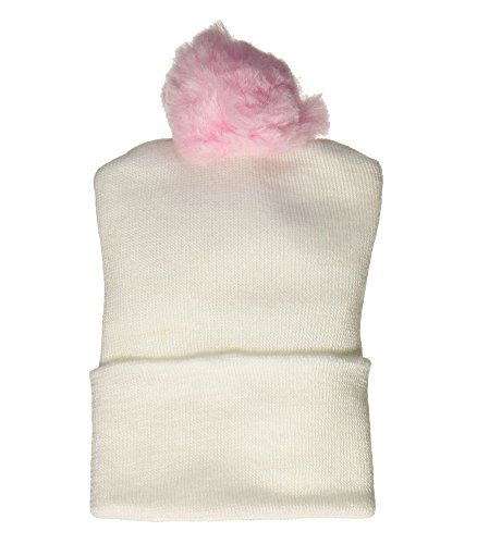 Bird & Cronin 08142263 Comfor Knit Baby Hat with Pom Newborn Pink Pom and Booties Accessory Set (Pom Bootie)