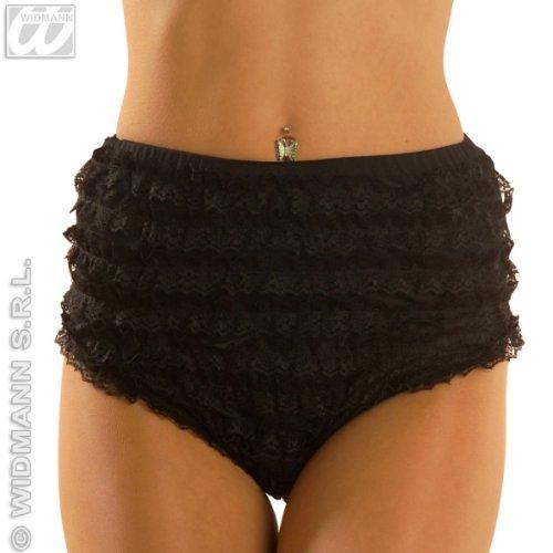 Preisvergleich Produktbild Spitzenhöschen Schwarzes Slip schwarz S 36 38 Unterrock Moulin Kleid Rouge Damen