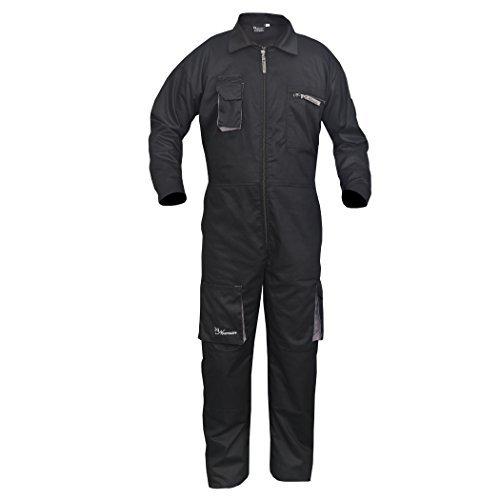 Nero da Lavoro da Uomo Salopette Tuta Caldaia Coveralls Meccanica Boilersuit Protettiva, Cruz V2 Fresh Foam, S