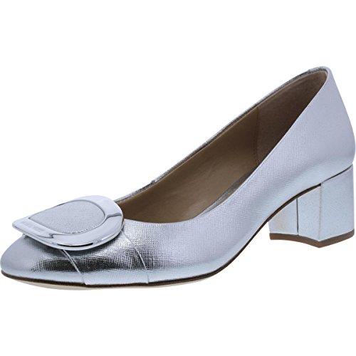 MICHAEL Michael Kors - Pauline Donna, Argento (Silver Leather), 39 EU