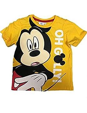 Disney Mickey Maus T-Shirt in verschiedenen Farben Gelb, Rot, Grau Grösse 98, 104, 116, 128