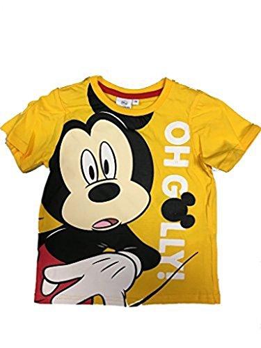 Disney Mickey Maus T-Shirt in verschiedenen Farben Gelb, Rot, Grau Grösse 98, 104, 116, 128 Gelb