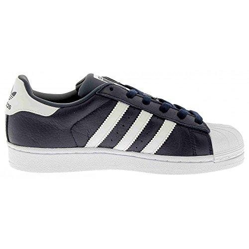 adidas Originals Unisex-Erwachsene Superstar Weave Sneakers Blu/bianco