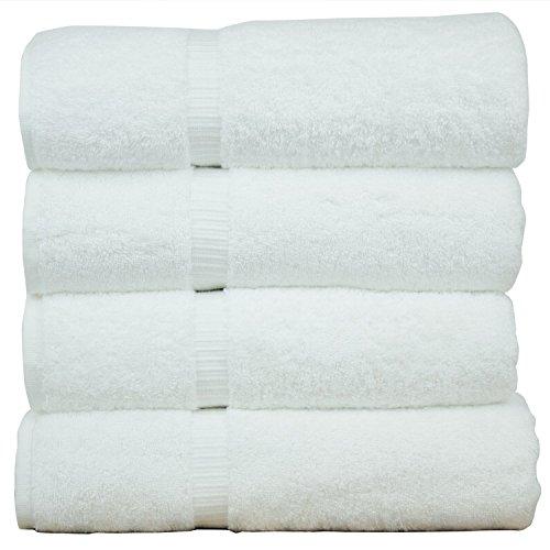 Casa Copenhagen 550 GSM Hotel Premium 100% Cotton Bath Towels 70cm X 145cm. - White