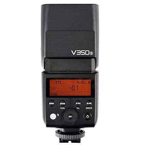 Godox V350S Li-Ion batteriebetriebene 2.4G Wireless Mini TTL Speedlite-Blitz mit Farbfilter für Sony A77, A77 II, A7R, A7R II, A7R III, ILCE-6000L, RX10 MI Schuh Digitalkameras (Blacklight Panel)