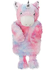 Funda para botella de agua caliente con botella, con forma de unicornio arcoíris con cuerno