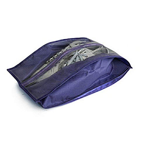 RoadRoma Polyester Shoes Storage Bags Women Men Dustproof Cover Shoes Storage Bags Navy