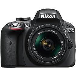 Nikon D3300 Appareil photo numérique Reflex 24,2 Mpix Kit Objectif AF-P 18-55 mm VR Noir