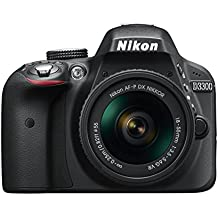 "Nikon D3300 + 18-55 AFP DX VR - Cámara réflex digital de 24,2 Mp (pantalla LCD 3"", estabilizador, vídeo Full HD), color negro - kit con objetivo 18-55MM AFP DX VR [Versión EU]"