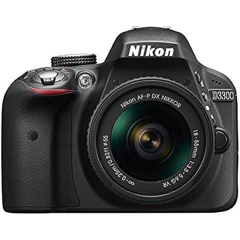 Nikon D3300 + 18-55 AFP VR - Cámara réflex digital de 24,2 Mp (pantalla LCD 3