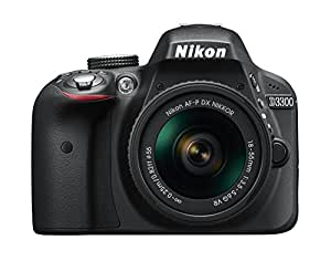 Nikon D3300 Digital SLR Camera (24.2 MP, AF-P 18-55VR Lens Kit, 3 inch LCD Screen) - Black
