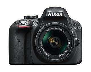 "Nikon D3300 + 18-55 AFP DX VR - Cámara réflex digital de 24,2 Mp (pantalla LCD 3"", estabilizador, vídeo Full HD), color negro - kit con objetivo 18-55MM AFP DX VR (B01B5UZ4TA) | Amazon price tracker / tracking, Amazon price history charts, Amazon price watches, Amazon price drop alerts"