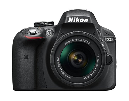 Nikon D3300 SLR-Digitalkamera Kit AF-P 18-55 VR schwarz Digital Still Camera Kit