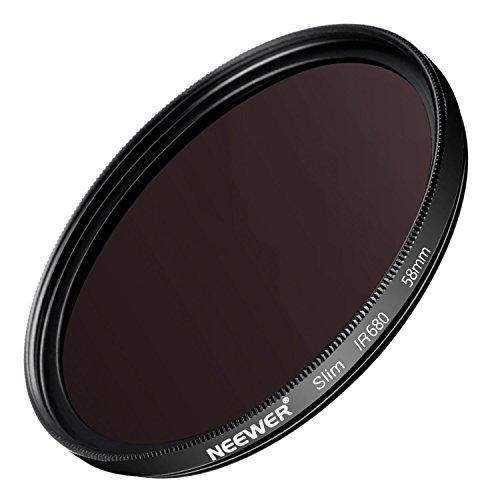 Neewer 58mm ir680Infrarot-X-Ray Filter für Canon EOS Rebel 700D 650D 600D 550D 500D 450D 400D 350D 100D (T5i T4i T3i T2i T1i Xsi Xti xt SL1), aus HD Optisches Glas und Aluminium Legierung Rahmen