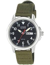 Citizen Eco-drive BM8180–03E–Reloj lienzo Hombres de la correa