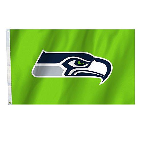 tle Seahawks Seattle Seahawks Seahawks, 91 x 152 cm Fahne mit Ösen, Marineblau, ()