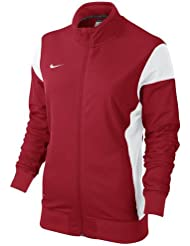 Nike W'S Academy14 Sdln Knit Jkt - Chaqueta para mujer, color rojo/blanco (university red/white/white), talla M