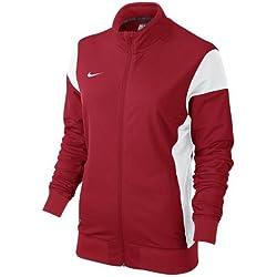 Nike W'S Academy14 Chaqueta Para Mujer Deportiva Color Rojo/Blanco Talla XL