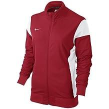 Nike W'S Academy14 Sdln Knit Jkt - Chaqueta para mujer, color rojo/blanco (university red/white/white), talla M