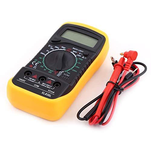 Akozon Digital LCD Multimeter AC/DC Voltmeter Widerstandsstrom Volt Ohm Tester Meter-Sicherungsschutz F-200mA / 250V-Diodenmontage Test/Transistor P-N Verbindungstest/Transistor HFE Test