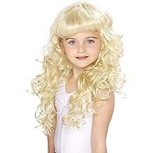 SmiffyS 42131 Peluca De Princesa Para Niñas Rizada, Tamaño Único