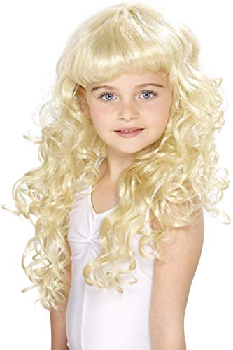 Prinzessin Kinderperücke Blonde Lockig, One ()