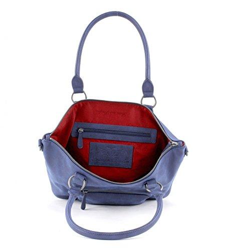 Fritzi aus Preußen Gabriella Vintage Bolsa a spalla 44 cm Blue